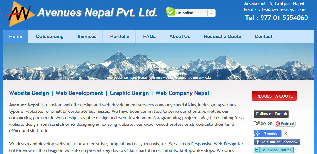 Best Good Web Company - Avenues Nepal